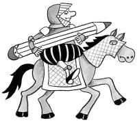 Bleistiftritter auf Pferd